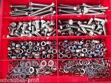Sortimentkasten 385 Teile Edelstahl Schrauben und Muttern Starter Set DIN 933