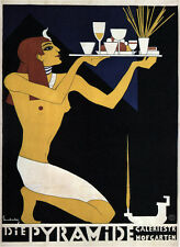 THE PYRAMID 1920 Vintage Liquor Advertising Poster CANVAS ART PRINT 24x32 in.
