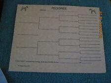 Lakeland Terrier Blank Pedigree Sheets Pack 10