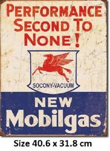 Mobilgas  Mobil Rustic Tin Sign 1725 Licensed - Made in USA