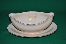 Fine Arts China Royal Splender Gravy Boat with Attached  Underplate Ex Cond+++++