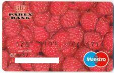 "LATVIA MAESTRO BANK CARD PAREX ""RASPBERRY"" EXPIRED 2000"