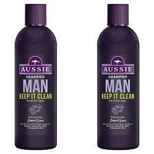 2 x Aussie Man Keep It Clean Shampoo for Men with Australian Desert Lime - 300ml