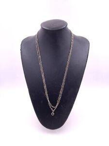 Ancien collier sautoir en argent Antique silver necklace