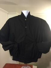 VTG men's BERDIE by Richard A Leslie black baseball jacket USA made, size L/XL