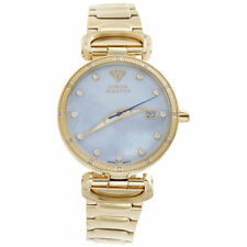 Aqua Master Womens Pearl Dial Gold Tone Stainless Steel Bracelet Watch W#359 2