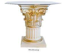 Glastisch Designer Esstisch Barock Säulen Wohntisch aus Stuckgips  6030 k 141