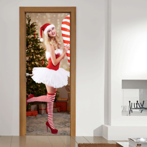 Christmas Decoration - Sexy Woman Santa Christmas Door Banner