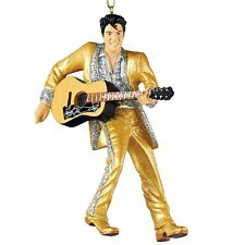 "Elvis Presley Gold Suit & Guitar Christmas Ornament, 4.5"",  by Kurt Adler"