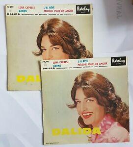 DALIDA ♦ LOT DE 2 x EP TIRAGES DIFFERENTS ♦ LUNA CAPRESE (voyez détails, see)