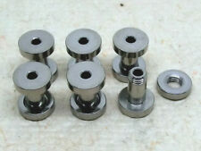 6 PEZZI TUNNEL VITE ORECCHIO Flesh Ear Plug acciaio inox 4mm Ø color argento