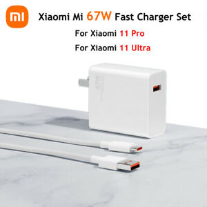 Original Xiaomi Mi 67W Fast Charger Adapter Cable Set for Xiaomi 11 Pro 11 Ultra