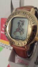 Vintage Retired NIB Mickey Mouse dancing digital color image watch NOS by Disney