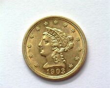 1903 LIBERTY HEAD $2.5 GOLD CHOICE UNCIRCULATED