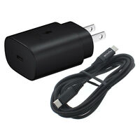 SAMSUNG GALAXY NOTE 10 S10 Plus 25W PD USB-C FAST HOME CHARGER 6FT TYPE-C CABLE