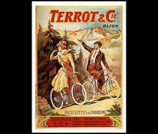 Cycles Terrot Dijon France MOUNTAIN TOURING POSTER Classic Reprint (c.1906)