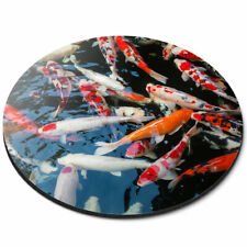 Round Mouse Mat - Koi Carp Pond Fish Japanese Office Gift #21766