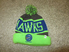 Atlanta Hawks NBA Basketball Men's Beanie Cap Hat 7 Brand Green Blue NEW Retro