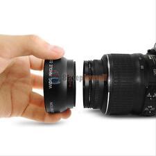 Black 52MM 0.45x Fisheye Wide Angle Macro Lens for Nikon D3200 D3100 D5200 D5100
