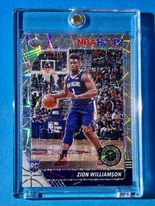 Zion Williamson SILVER LASER PRIZM ROOKIE NBA HOOPS PREMIUM STOCK RC - Mint!