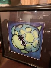 🐢 ART Framed Print By NOELLE DAAS Turtle Gazing At The Moon 🌝