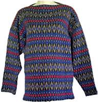 Vintage ICELAND Jersey Modeller Hans Heitsch Wool Sweden Sweater Sz S Womens