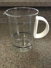 """Bodum 6"""" Coffee Maker White Handle Replacement Glass Carafe/Pot"""
