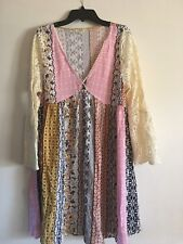 Kori America Boutique Baby Doll Dress Women's Size S Quilted Pattern BEAUTIFUL