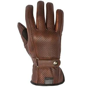 Spada Free Ride Breeze Leather Summer Motorcycle Gloves Cruiser Touring Brown