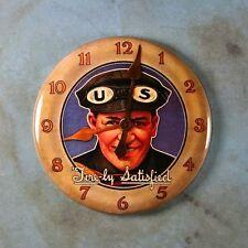 "Vintage Advertising Clock Photo Fridge Magnet 2 1/4"" US Tires 1930's Goggles"