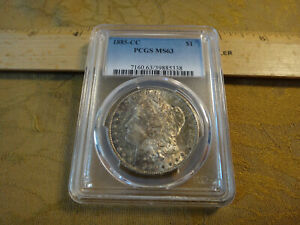 1885-CC United States Morgan Silver Dollar $1 Coin - Graded PCGS MS63