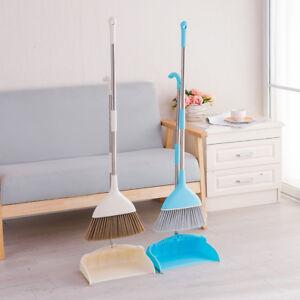 Long Handle Dustpan and Brush Soft Broom Set Sweep Floor Cleaning Disposal Tool