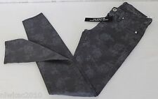 MADEWELL [blanknyc] THUNDER FLORAL PRINTED SKINNY JEANS GREY SIZE 25 NWT 22428