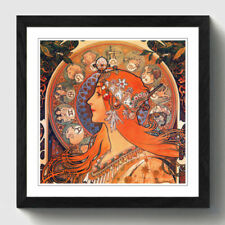 Reproduction Art Prints Alphonse Mucha Black