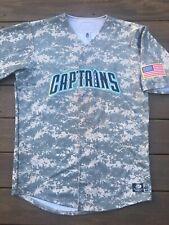 VTG Lake County Captains LeVon Washington 7 Autograph Military Camo Game Jersey