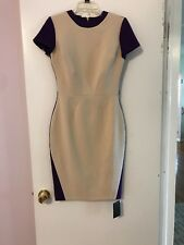 Hybrid  Trinity Beige And Purple Pinup Dress Size 12 UK, 6 US NWT!
