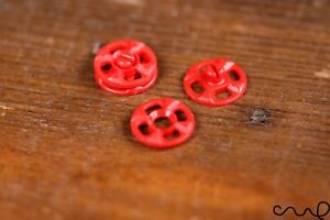 10 Sets Japanese Red Snap Fastener Popper Press Studs Plastic Sewing Round