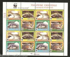 Philippines 2011 MNH SS, WWF, Crocodiles, Reptiles, Wildlife