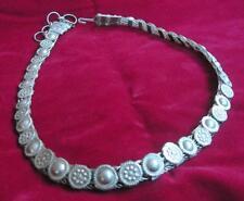 Vintage artisan silver tone metal Indian or Asian belt 11294