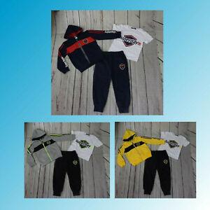 Kinder Jogginganzug Neu Jungen Trainingsanzug 3 Tlg Jungen Jacke Hose TShirt