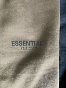 MENS FOG - Fear Of God Essentials TAUPE Sweatpants Size L WORN ONCE