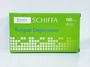 (200) Disposable Wooden Tongue Depressors ( 2 boxes of 100), 150mm x 17mm