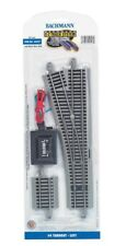 Bachmann E-Z Track ~ New 2019 ~ #4 Turnout Switch - Left Hand - HO Scale 44557