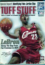 MARCH 2005 LEBRON JAMES COVER TUFF STUFF 5 SPORT PRICE GUIDE