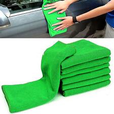 10 Microfiber Green Cleaning Detailing Polishing Glass Cloth Towel Auto Car Rags