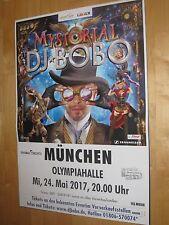 DJ Bobo Tourplakat/Tourposter 2017 - Olympiahalle München - NEU -