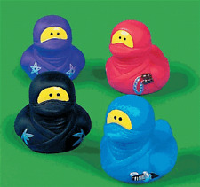 Ninja Rubber Duck Set of 4   **Free S/H when you buy 6 items from my store:-)