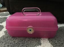 Caboodles 2622 Pink Glitter Makeup Case Mirrored Vanity Signature Tray