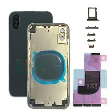 For Apple iPhone X Housing Metal Frame Glass Back Chassis Cover - Space Grey