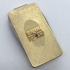 Vintage Exxon Service Award 12K Gold Filled Anson Money Clip Knife w/ Diamonds+